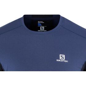 Salomon M's Trail Runner LS Tee Medieval Blue/Night Sky